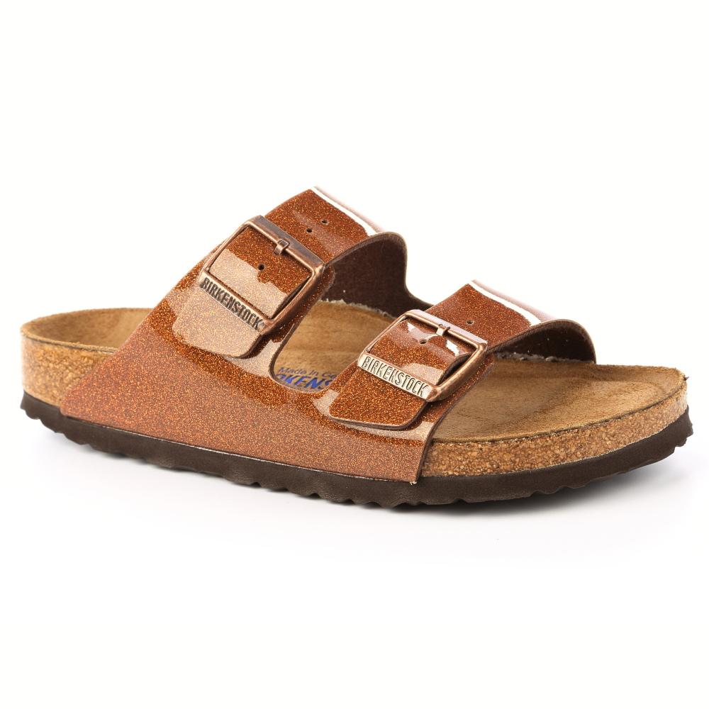 勃肯BIRKENSTOCK057643亞利桑那經典二條拖鞋(亮面銅色)