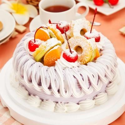 樂活e棧-夢幻紫繽紛濃情蛋糕-8吋-入
