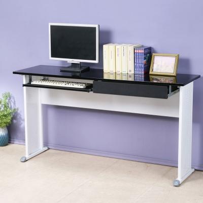Homelike 皮特140x40工作桌(附抽+鍵)-亮面烤漆