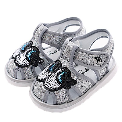 阿諾帕瑪大眼睛寶寶嗶嗶鞋 銀 sk0399魔法Baby