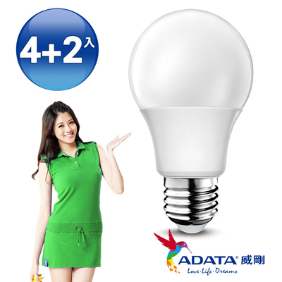 ADATA威剛 新二代高亮度16W大廣角LED燈泡-黃光(6入)