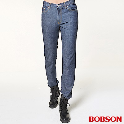 BOBSON 男款直筒牛仔褲