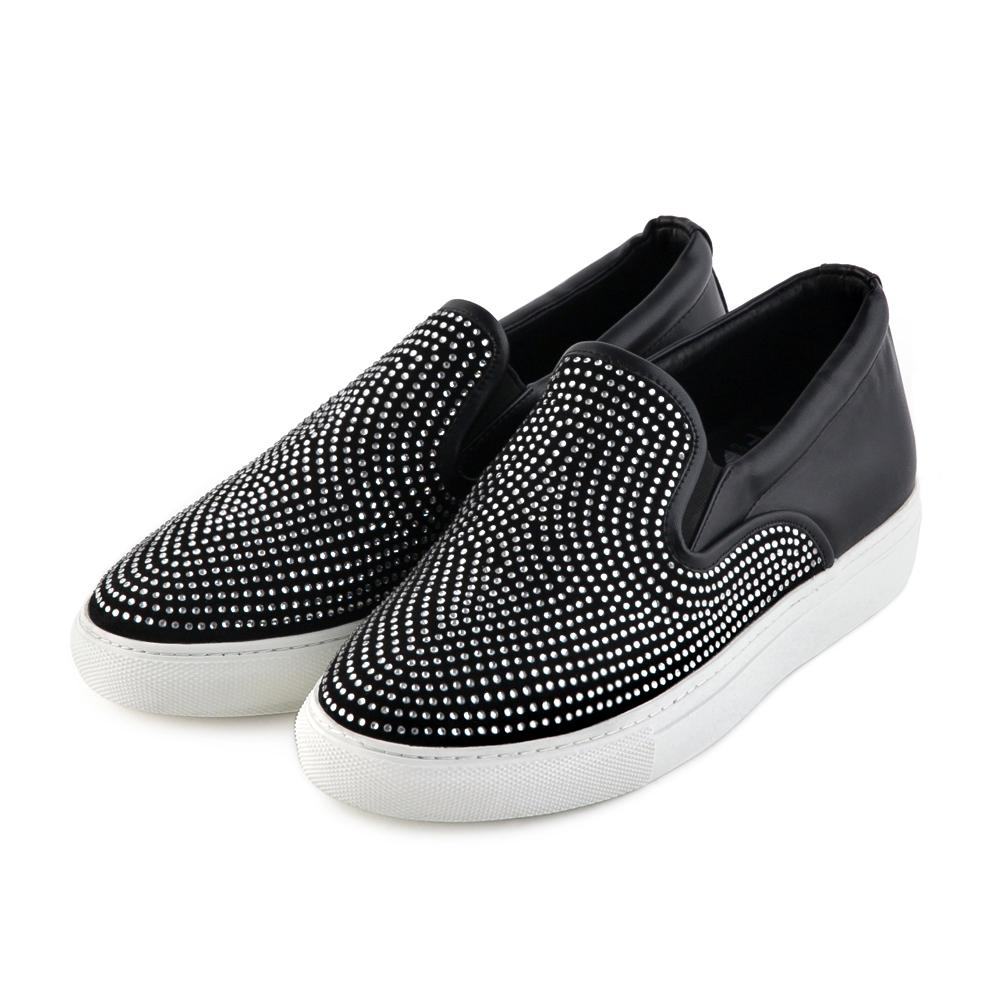 TAS 太妃Q系列 耀眼滿鑽裝飾slip-on懶人鞋-焦點黑