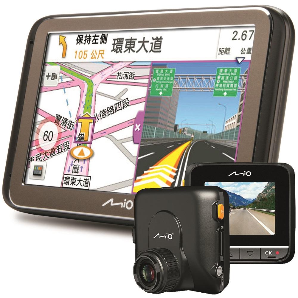 Mio Classic585藍芽聲控+MiVue338 G-Sensor 行車導航超值組