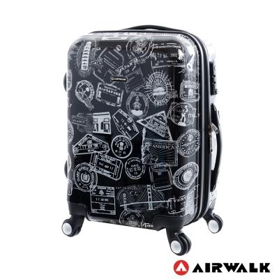 AIRWALK LUGGAGE - 精彩歷程 環郵世界行李箱20吋 - 遊玩靚黑