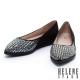 平底鞋 HELENE SPARK 時尚幾何晶鑽麂布尖頭平底鞋-黑 product thumbnail 1