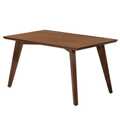 居家生活 克瑞雪4.3尺胡桃餐桌