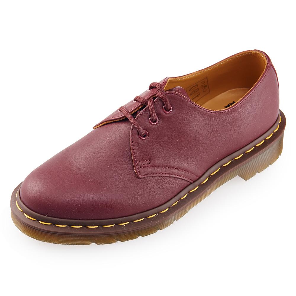 (女) Dr.Martens 1461 經典3孔馬汀鞋-櫻桃紅