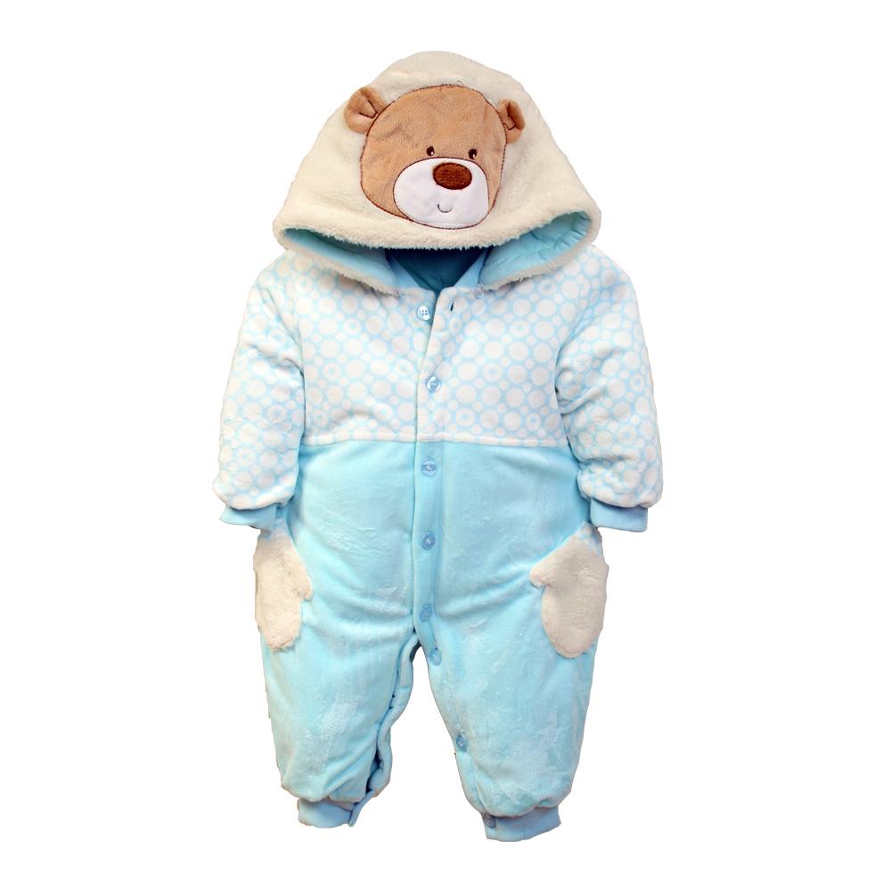 魔法Baby 厚絨鋪棉極暖嬰兒連身衣 k37661