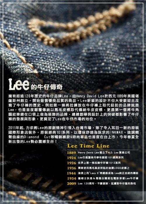 Lee 牛仔褲 726 中腰標準小直筒-男款-深黑藍