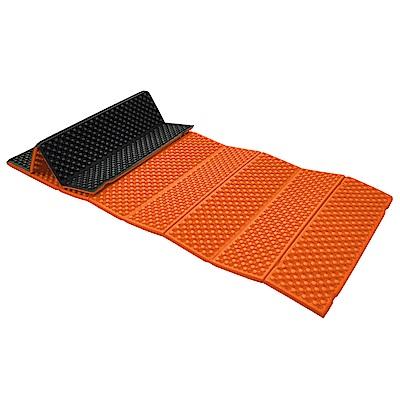 防水露營睡墊 折疊睡墊 蛋巢型設計 57x190cm (橘色) -快速到貨