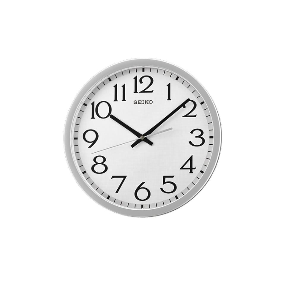 SEIKO 日本精工 滑動式秒針 靜音掛鐘(QXA711S)-銀/31cm