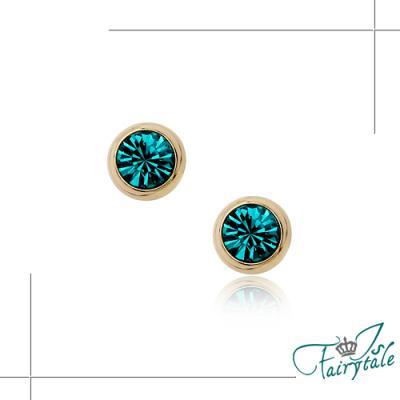 伊飾晶漾iSCrystal 土耳其藍 小圓鑽耳環