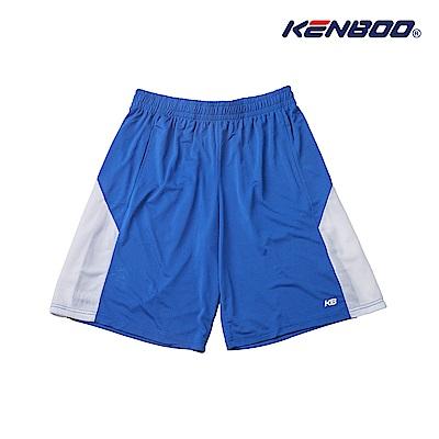 KENBOO吸排剪接籃球褲-寶藍