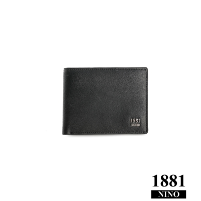 NINO1881 - 男人系列率性短夾 - 黑  (馬毛紋)