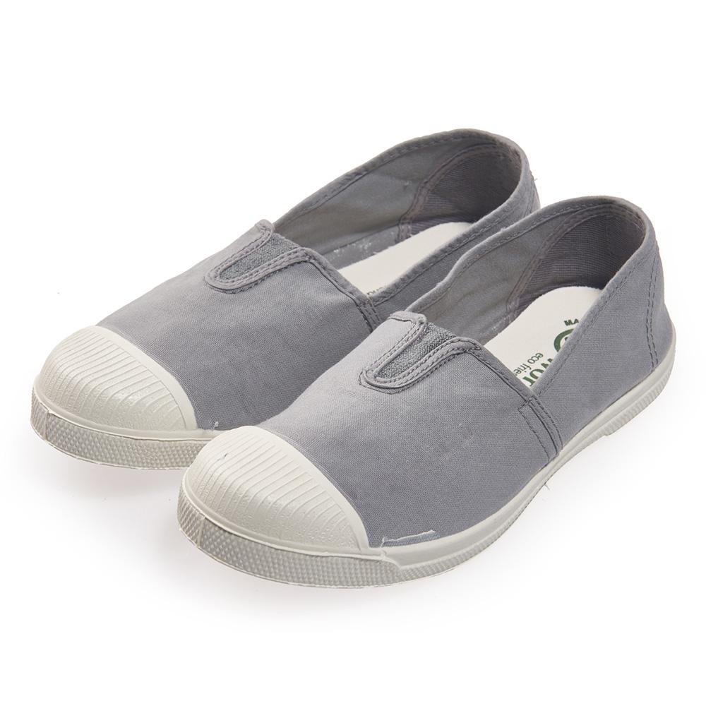 (女)Natural World 西班牙休閒鞋 素色鬆緊基本款*灰色