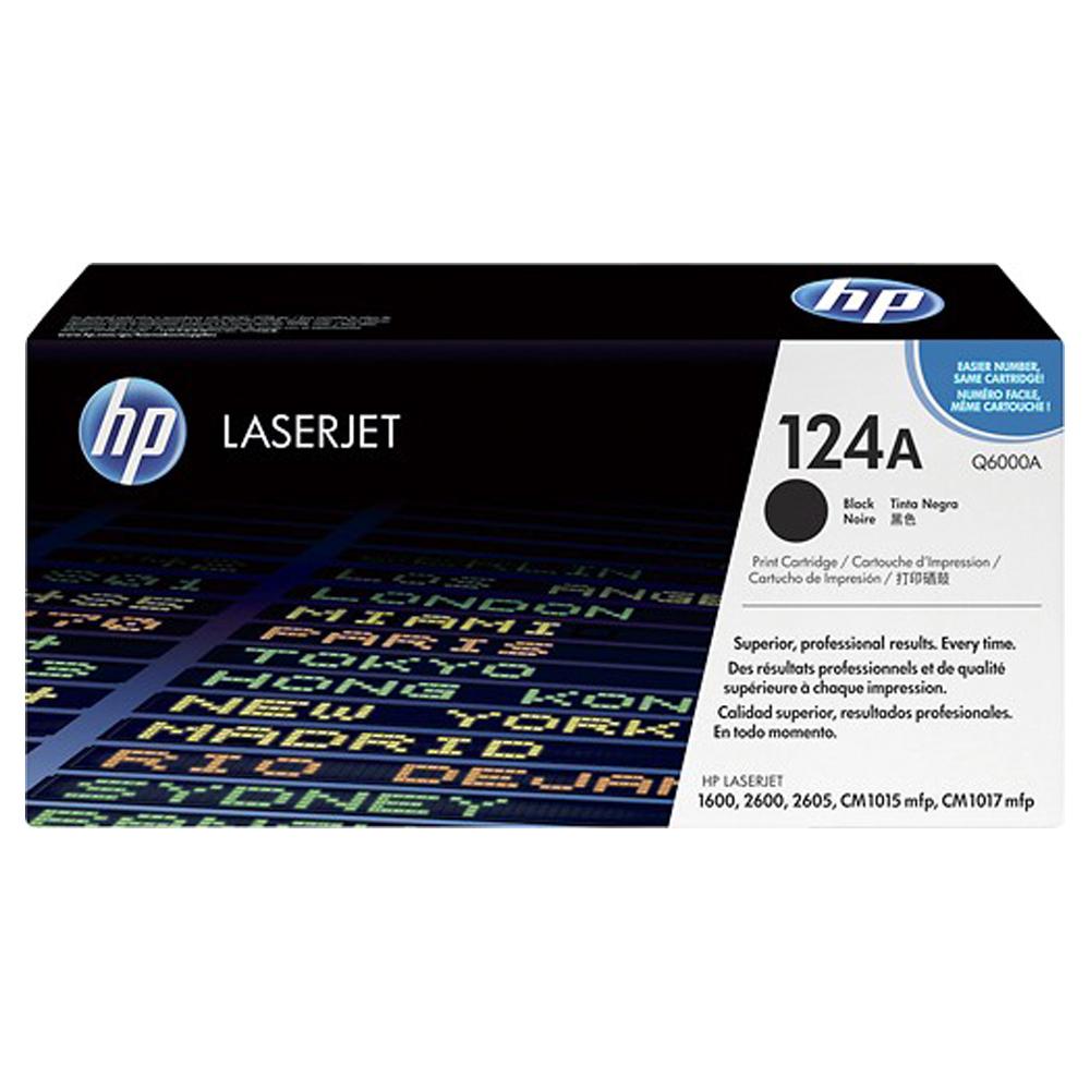 HP Q6000A 124A 原廠黑色碳粉匣