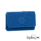 Kipling 短夾 酷藍素面-小
