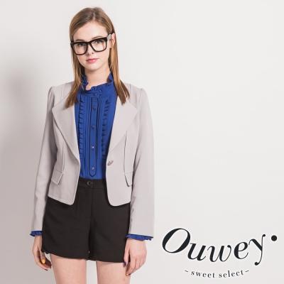 OUWEY-韓系都會百搭西裝式外套-灰
