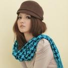 【I-shi】暖呼呼~日系千鳥格厚款長圍巾(藍黑)