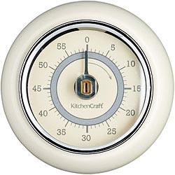 KitchenCraft 磁吸復古發條計時器(奶油黃)