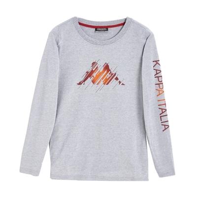 KAPPA義大利-時尚吸濕速乾BEST-DRY-女排汗衫-中麻灰-大紅