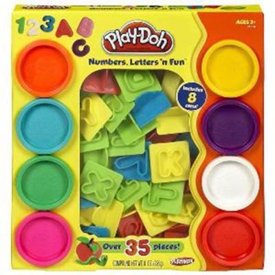 培樂多Play-Doh 創意DIY黏土字母數字遊戲組(附8色黏土) 21018(3Y+)