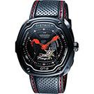DIETRICH OT系列 生化機械鏤空腕錶-黑x紅指針/46mm