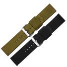 Watchband /各品牌通用時尚指標休閒尼龍帆布錶帶-黑軍綠色