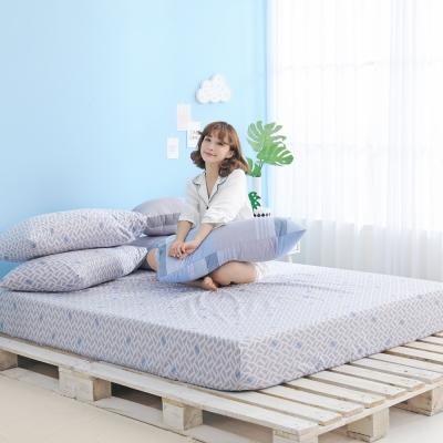 GOODDAY-交叉-纖絨棉-防蹣系列-床包 (180x186cm)