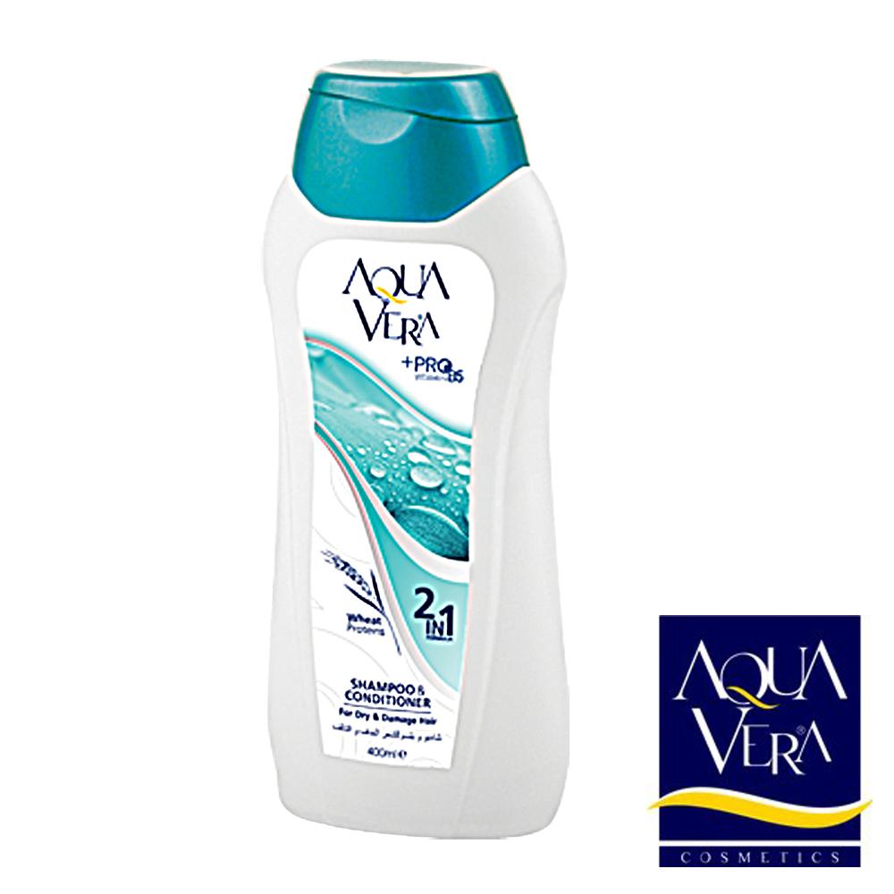 AQUAVERA 100%土耳其原裝進口乾燥受損專用洗髮精 400ml 8入組