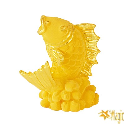 【Magic魔法金】年年有餘( 0.3錢) 立體黃金  (木盒精裝)