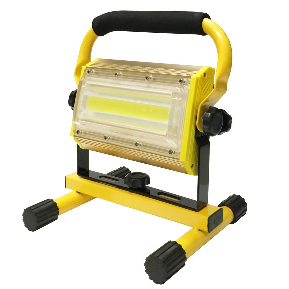 新款100W COB LED大功率充電廣角投光燈(附18650電池6顆+直充線)