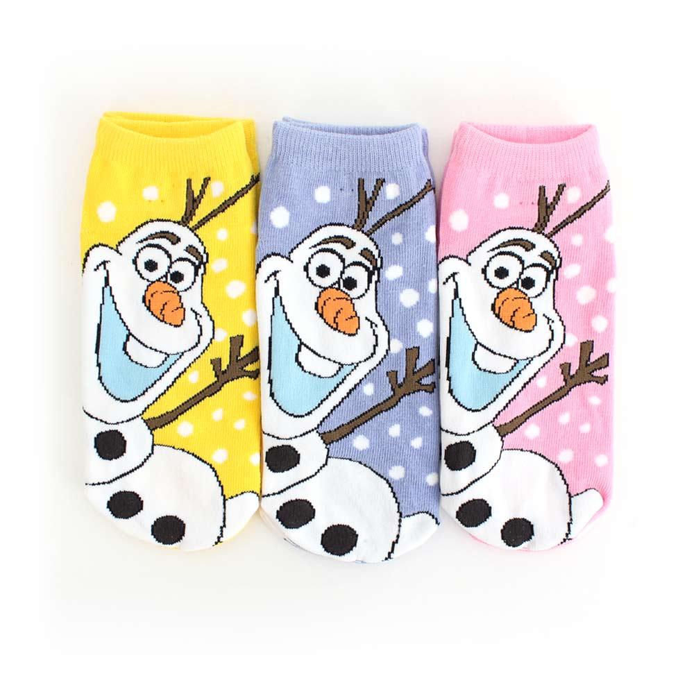 Disney迪士尼-冰雪奇緣雪寶點點直版襪3入組(15-24cm)