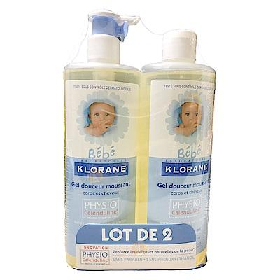 Klorane蔻蘿蘭 寶寶洗髮沐浴精 500ml (壓頭補充組)