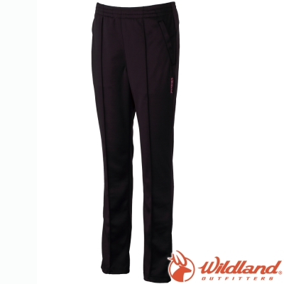 Wildland 荒野 W1661-54黑色 女 透氣抗UV長排汗褲