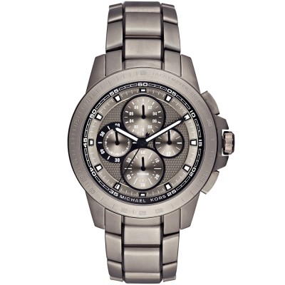 MICHAEL KORS極限賽車三眼計時手錶-灰/43mm