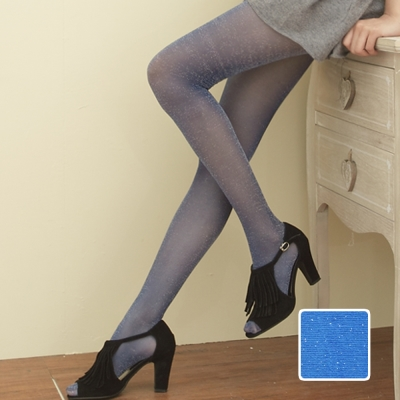 I-shi Shiny-style‧造型亮彩銀蔥褲襪(寶藍銀蔥)