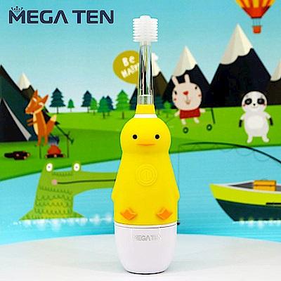 日本Mega Ten幼童電動牙刷可愛小鴨+專用刷頭(2入)