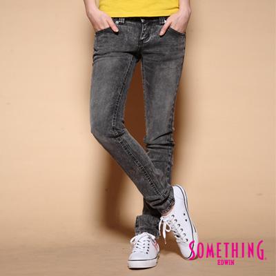 【SOMETHING】NEO 2WAY低腰伸縮直筒牛仔褲-女款(復古灰)