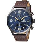 Timberland風潮再造時尚腕錶(TBL.15266JSU 03)-45mm/藍x咖啡