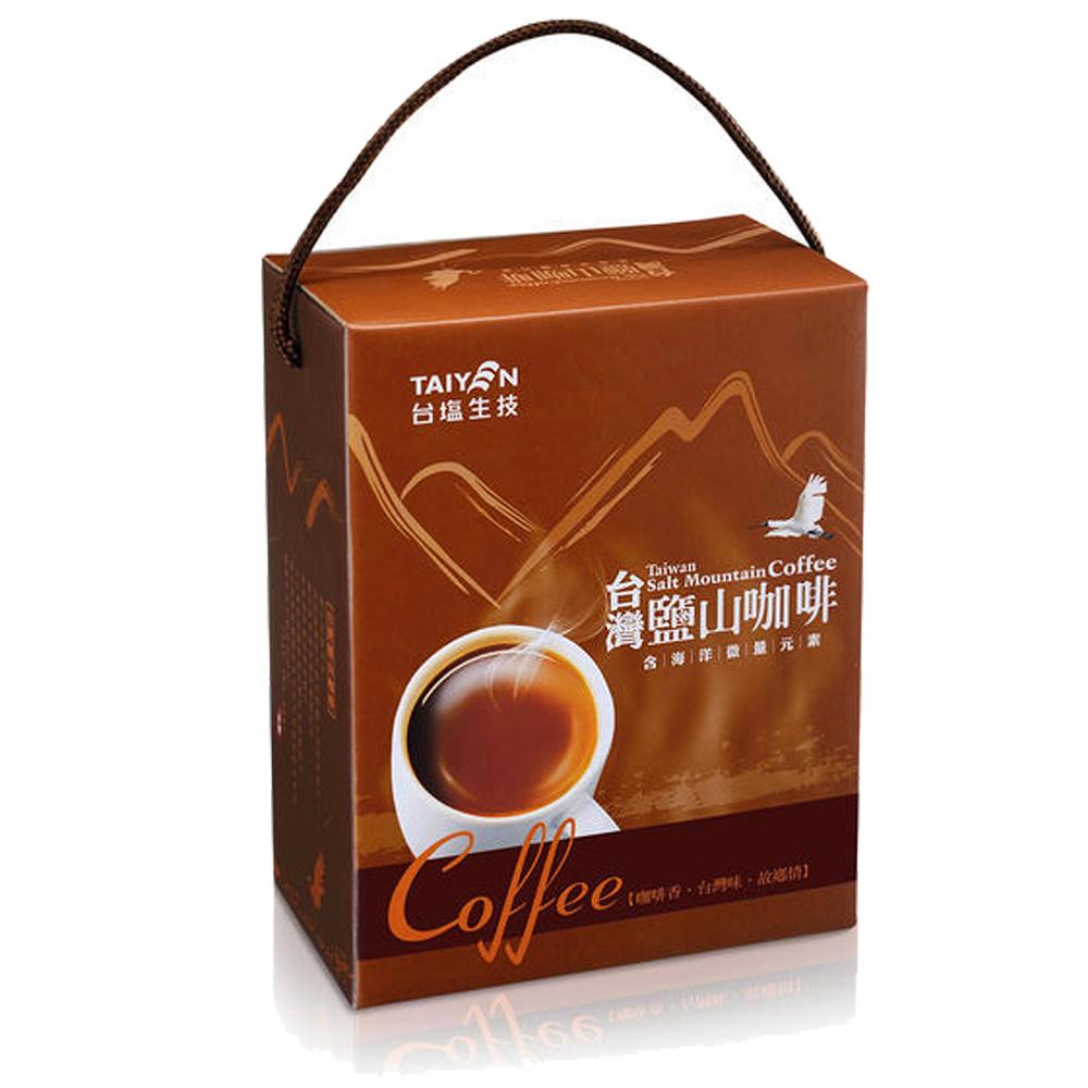 台灣鹽山咖啡二合一禮盒4入組(34包/盒)