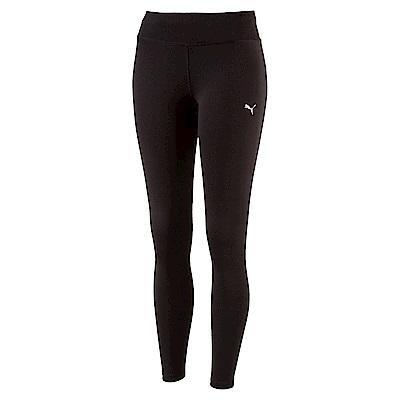 PUMA-女性慢跑系列素色緊身長褲-黑色-歐規