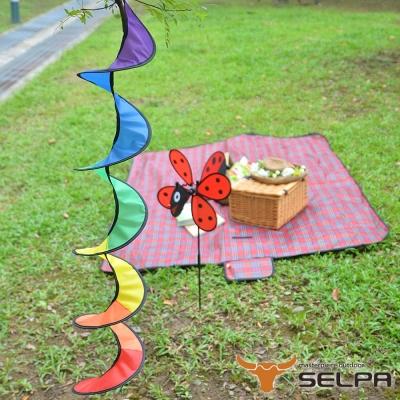 韓國SELPA 繽紛飾品-七彩風條