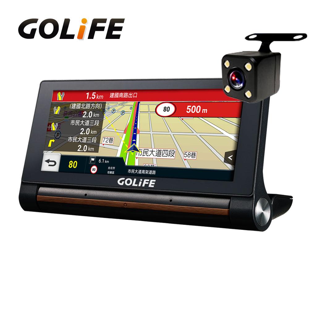 GOLiFE GoPad X 智慧四合一WiFi中控行車導航平板 (附倒車顯影鏡頭組)~速