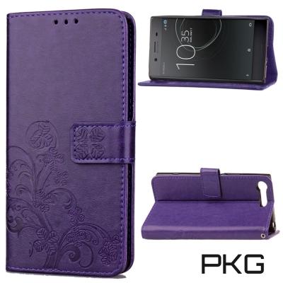 PKG SONY Xperia XZ Premium 皮套-側翻磁扣-精緻紫