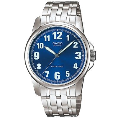 CASIO 都會城市新風範指針錶(MTP-1216A-2B)-藍/39.6mm