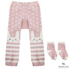 BEBEZOO 韓國 十字兔子條紋款彈性內搭褲襪子兩件組