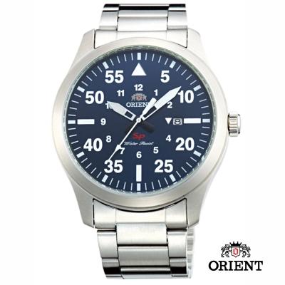 ORIENT 東方錶 SP 系列 飛行運動石英錶-藍色/44mm