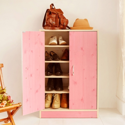 澄境 北歐鄉村風木紋雙門收納鞋櫃60x30x90cm-DIY